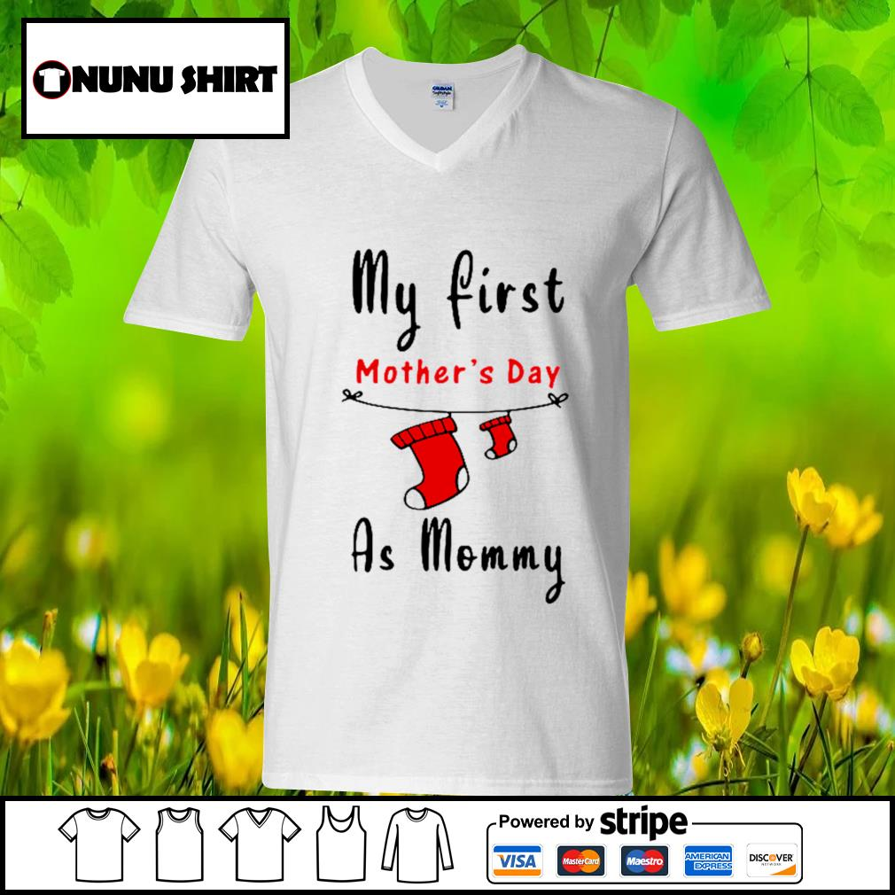 My first mother's day as mommy s v-neck t-shirt