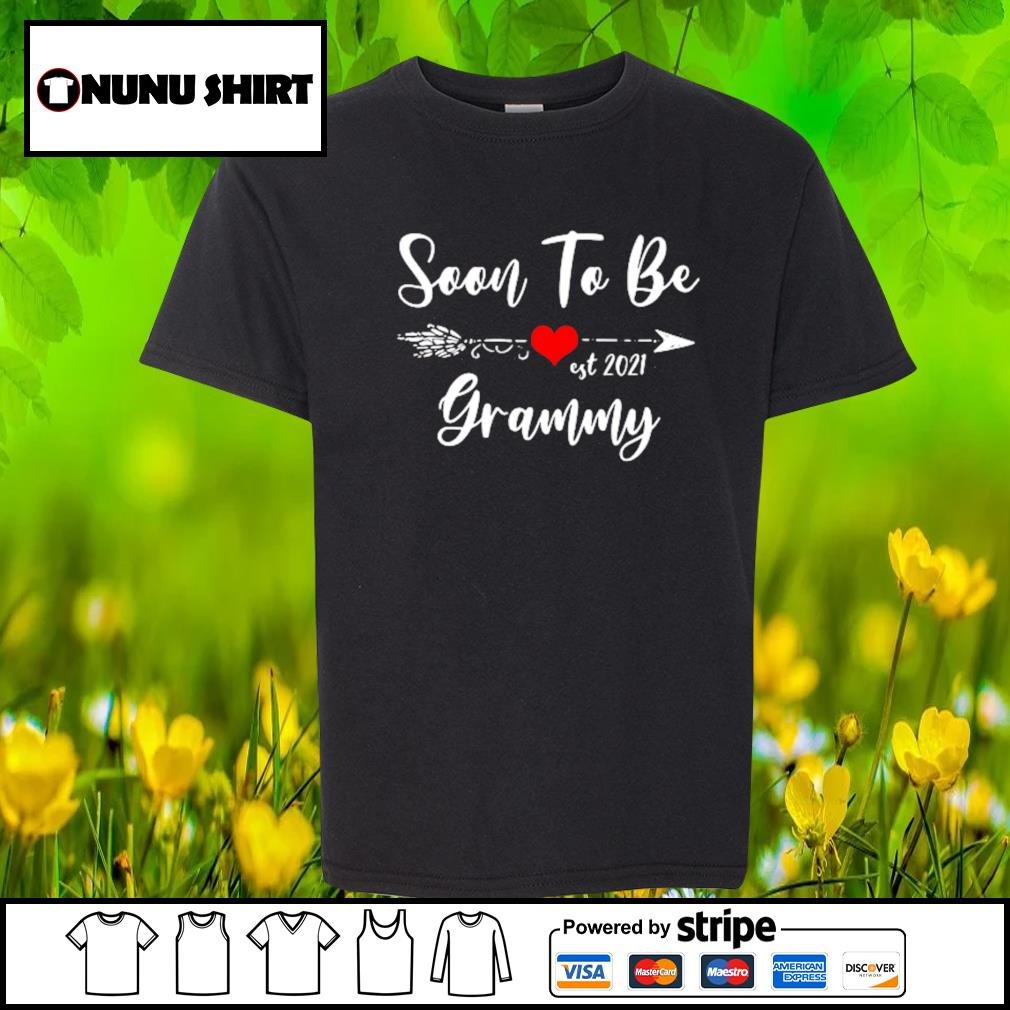 Pregnancy Announcement Soon to be grammy est 2021 s youth-shirt