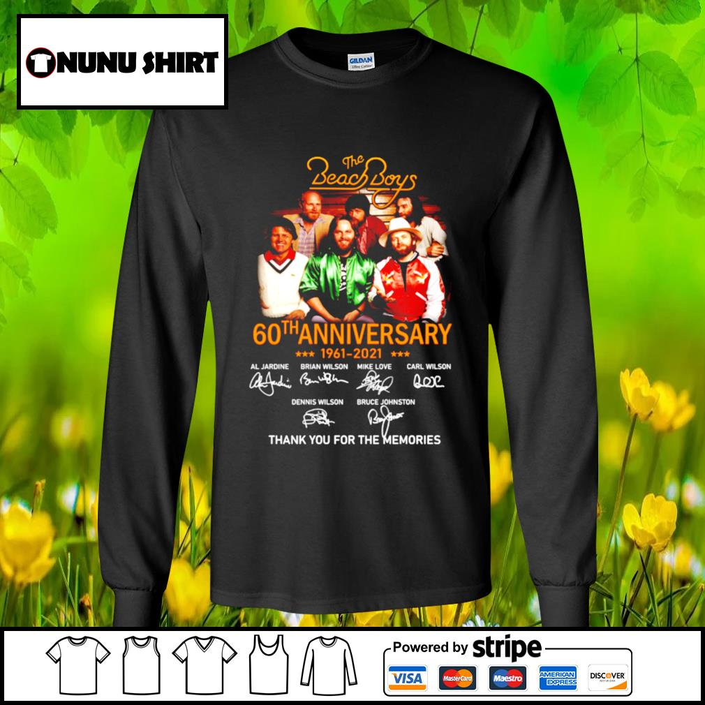 The Beach Boys 60th anniversary 1961-2021 thank you for the memories t-s longsleeve-tee