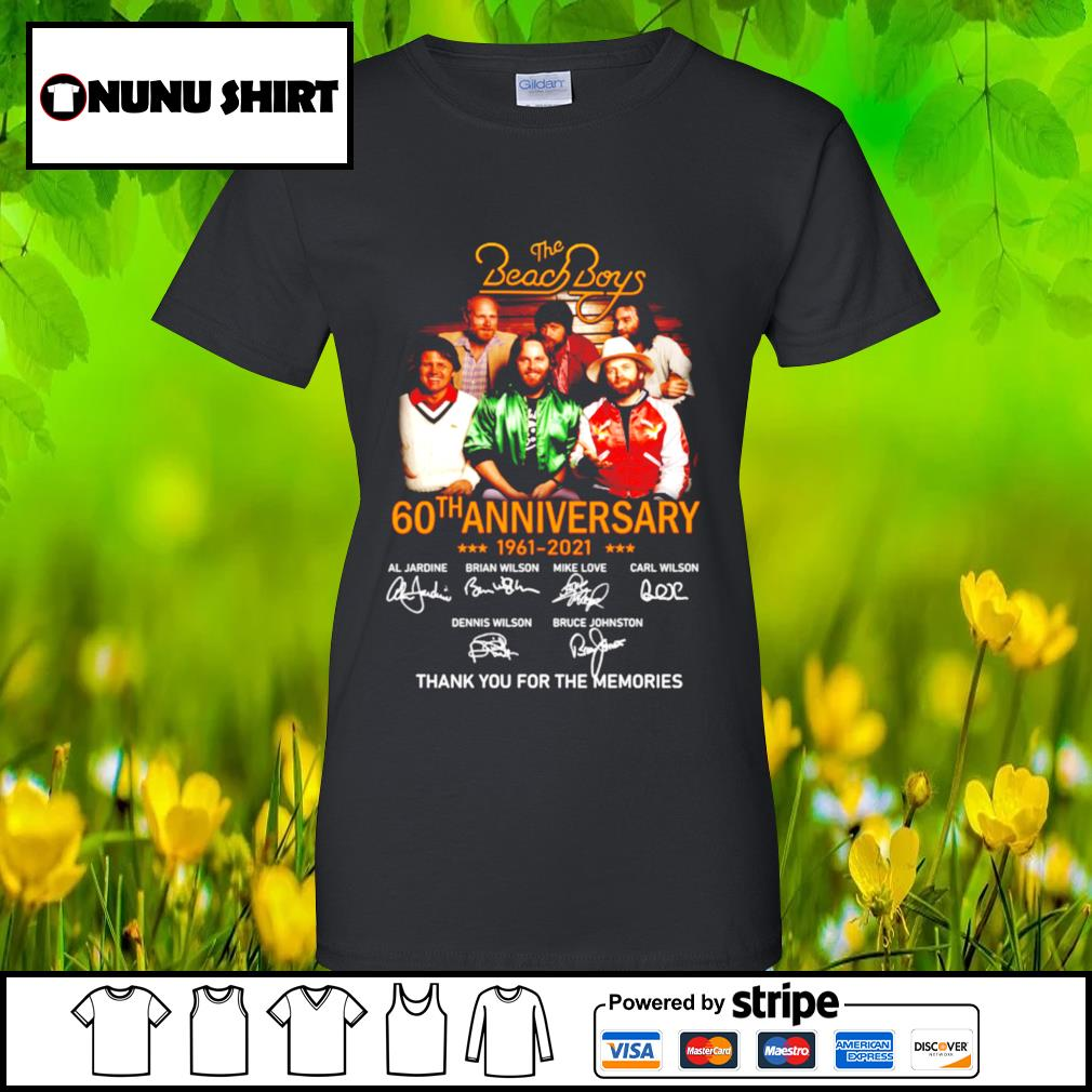The Beach Boys 60th anniversary 1961-2021 thank you for the memories t-s ladies-tee