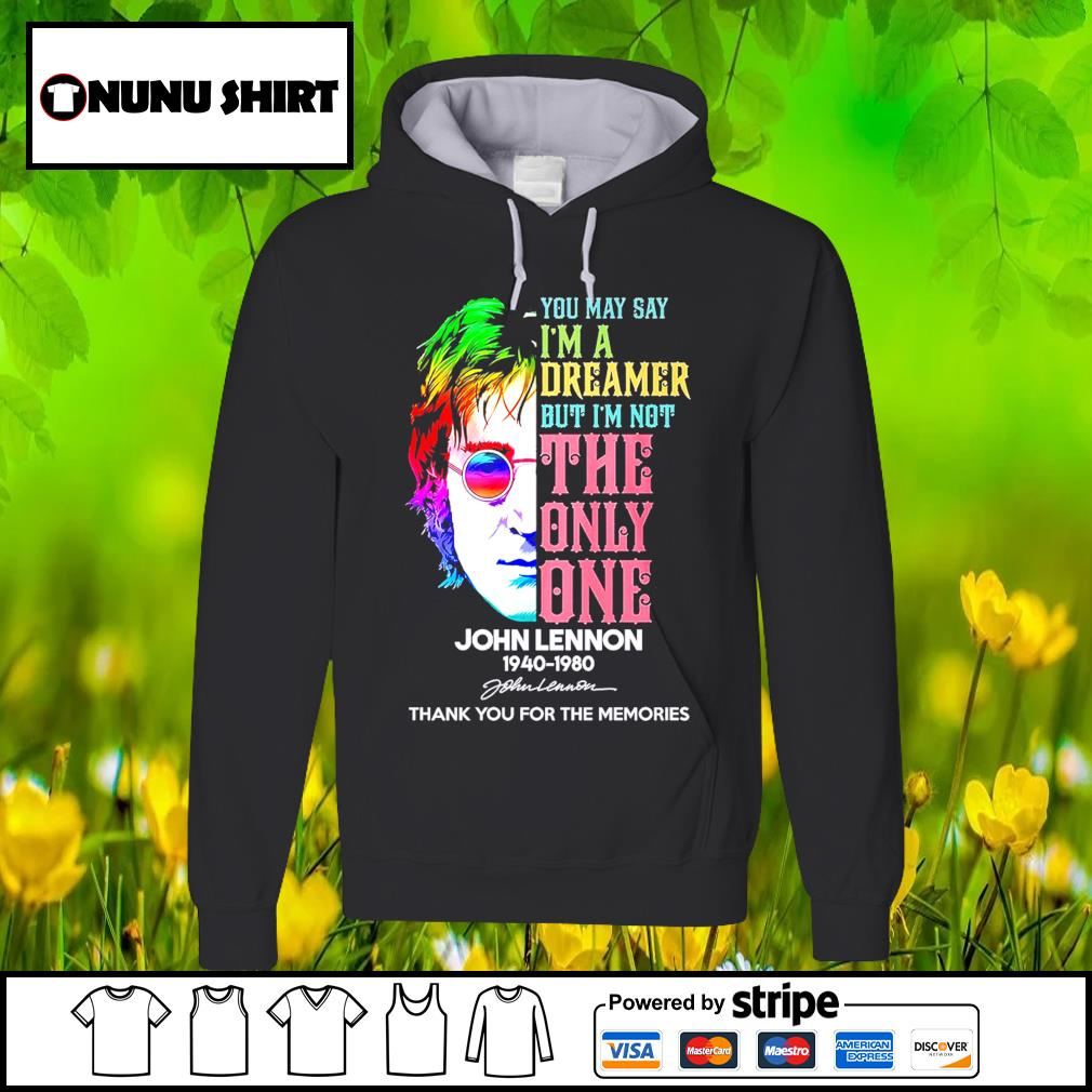 Harry Potter you may say I'm a dreamer but I_m not the only one John Lennon 1940-1980 s hoodie