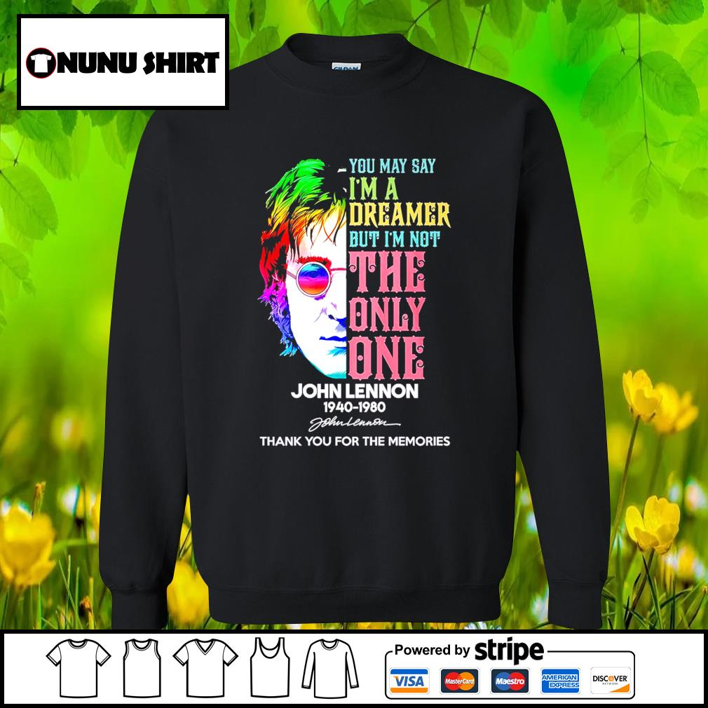 Harry Potter you may say I'm a dreamer but I_m not the only one John Lennon 1940-1980 s sweater