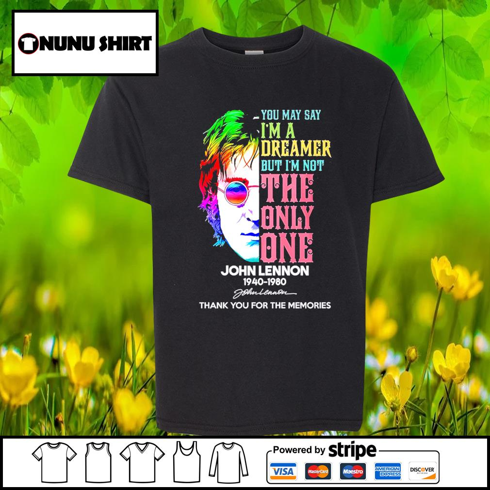 Harry Potter you may say I'm a dreamer but I_m not the only one John Lennon 1940-1980 s youth-shirt