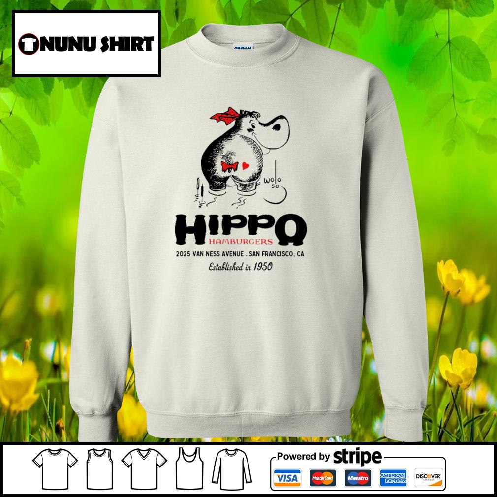 Hippo hamburgers 2025 van ness avenue San Francisco s sweater