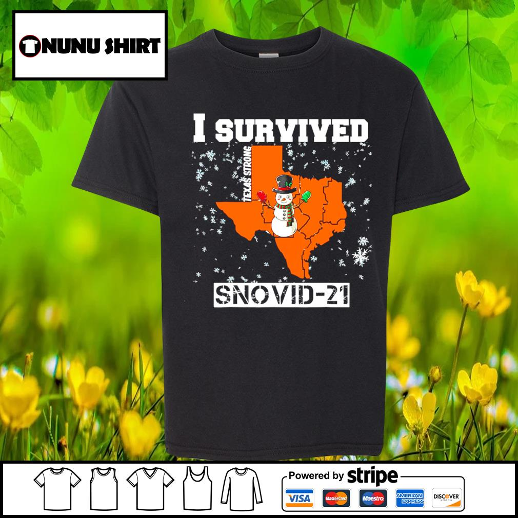 I survived Texas Strong snovid-21 s youth-shirt
