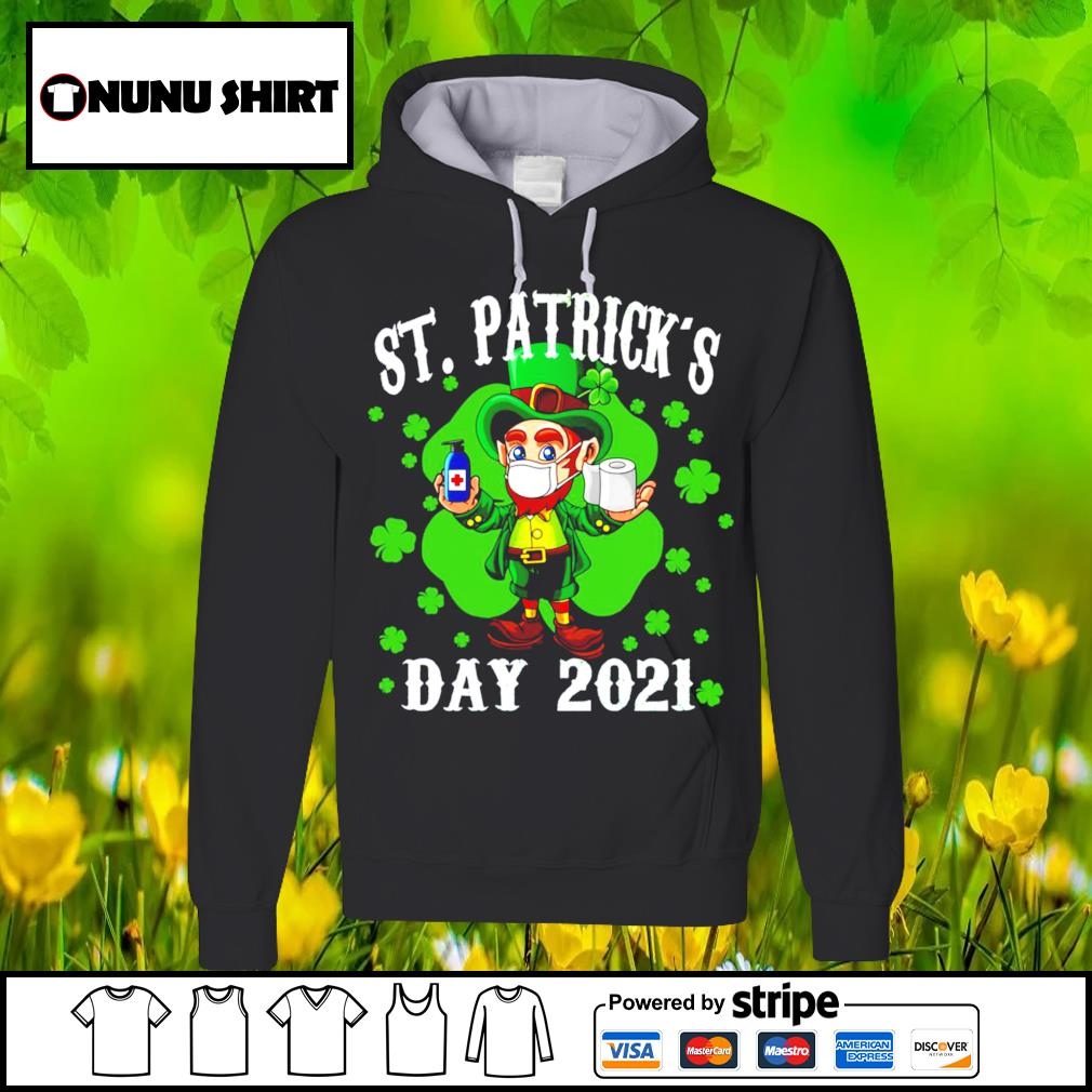 Leprechaun Wearing face mask St.Patrick's Day 2021 t-s hoodie