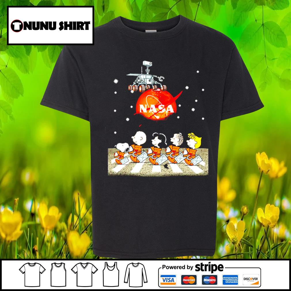 NASA Snoopy and friends Abbey Road s youth-shirt