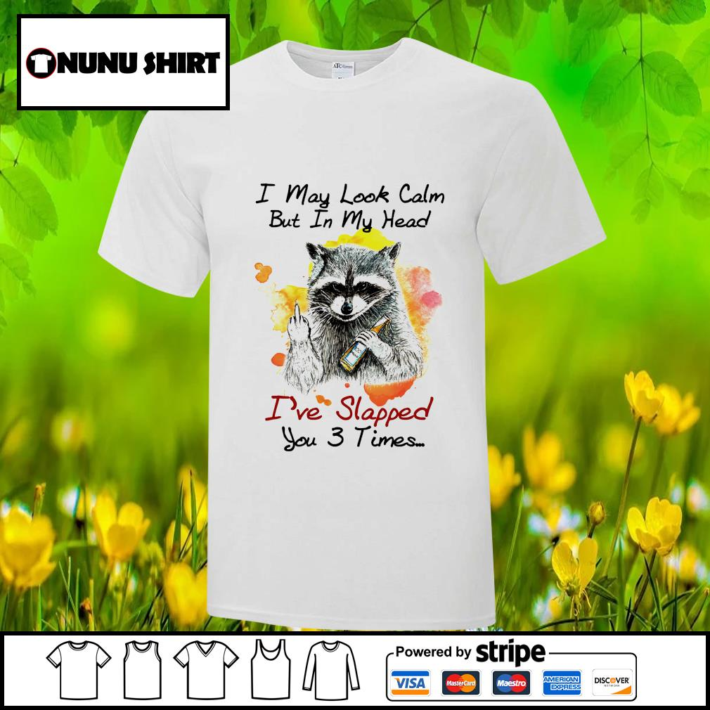Raccoon I may look calm but in my head I've lapped you 3 times shirt