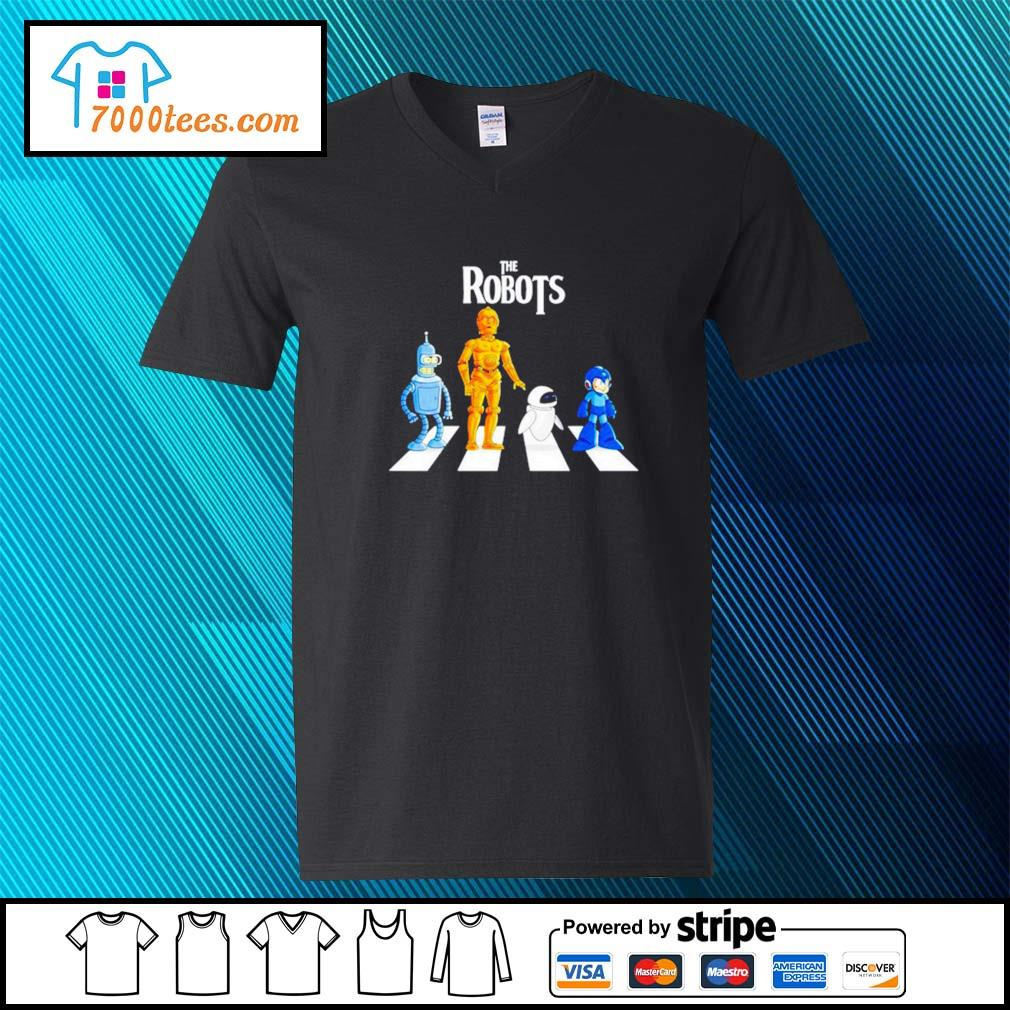 Star Wars The Robots Abbey Road v-neck-t-shirt