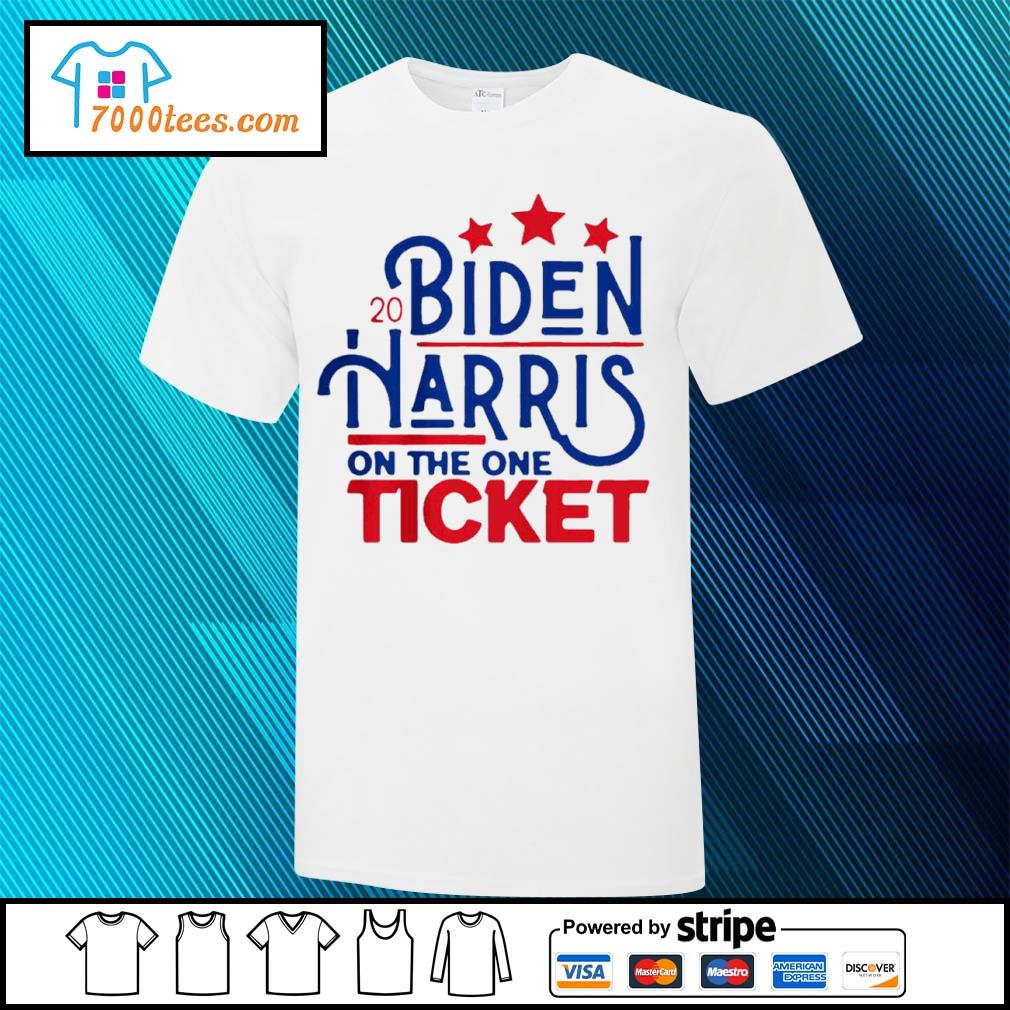 2020 Joe Biden Kamala Harris on the one ticket stars shirt