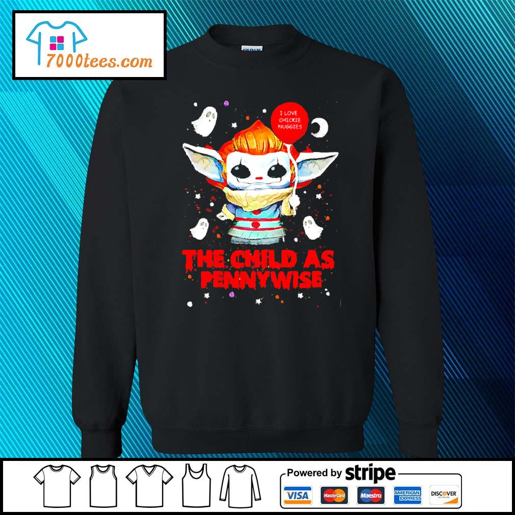 Baby Yoda Balloon the child as Pennywise Halloween s sweater