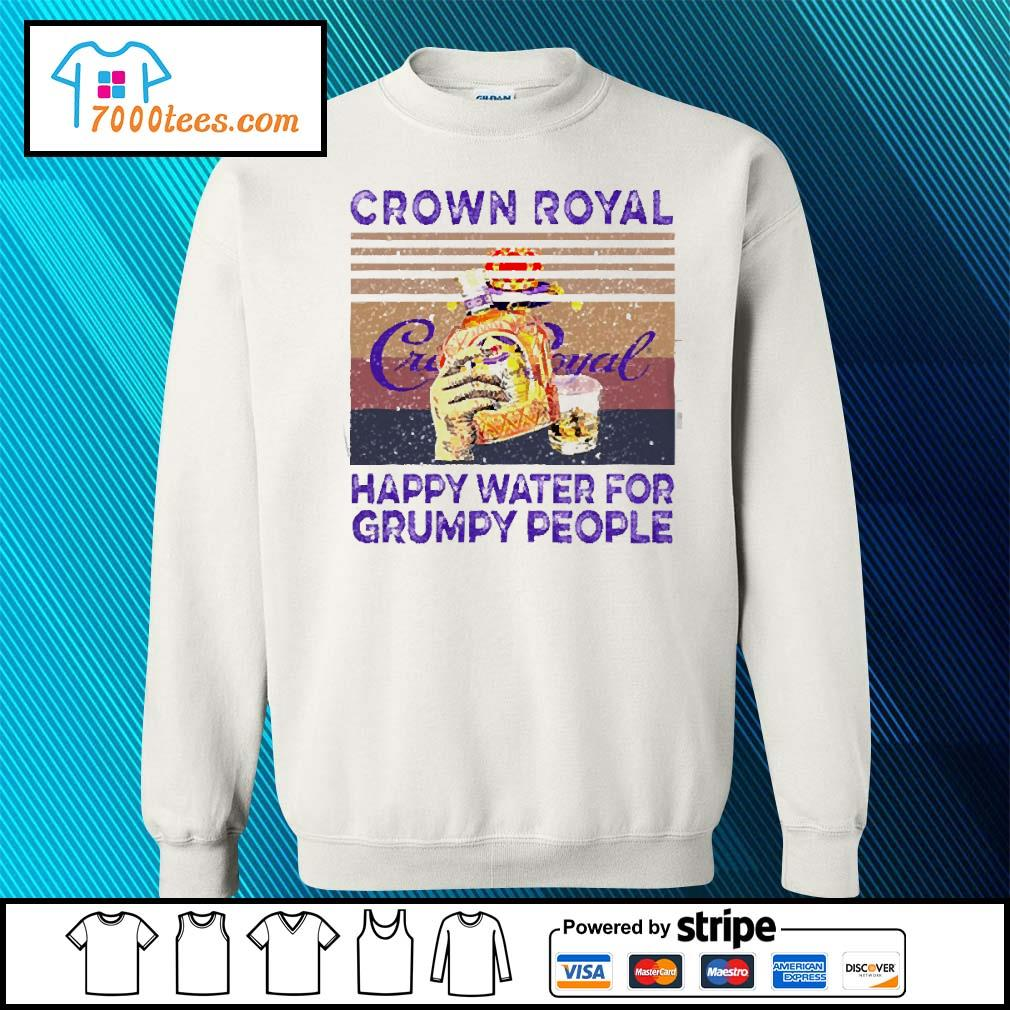Crown Royal happy water for Grumpy people vintage s sweater