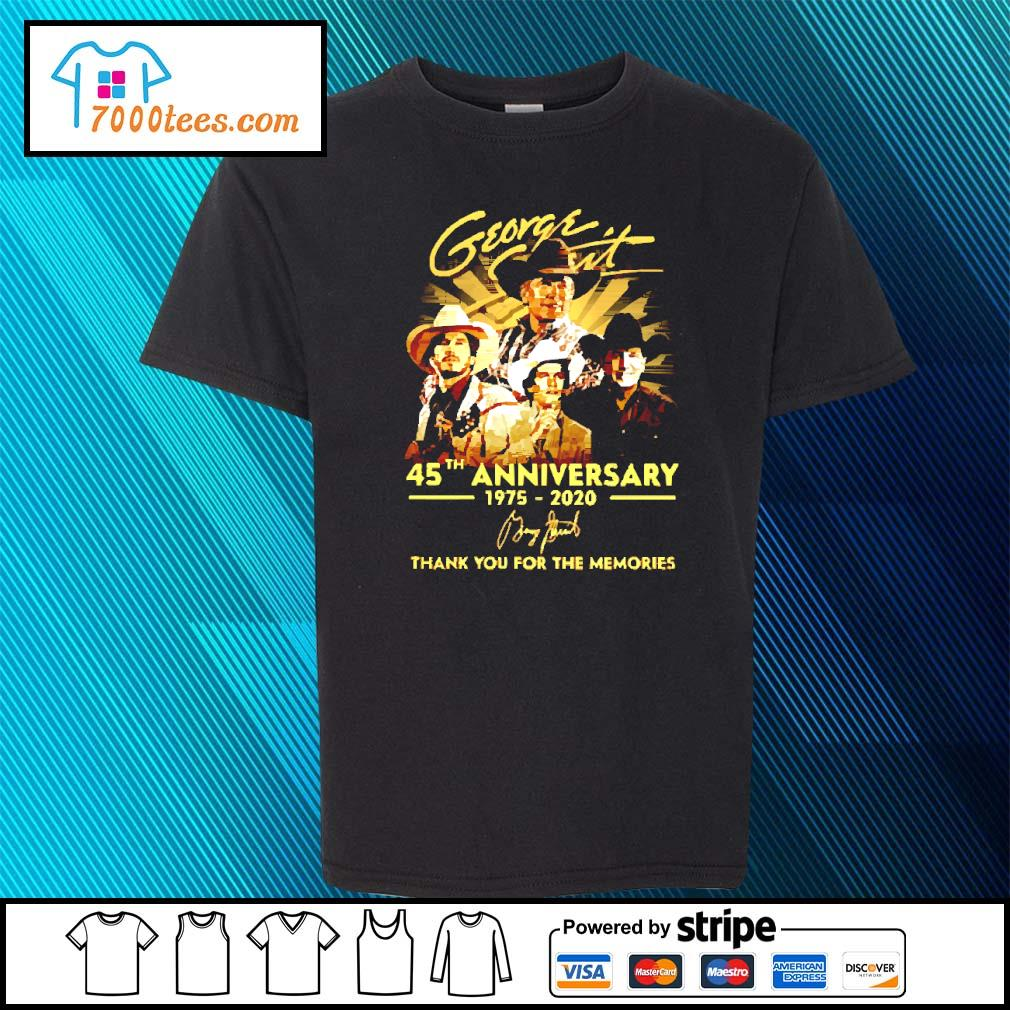 George Strait 45th anniversary 1975 2020 signature s youth-tee