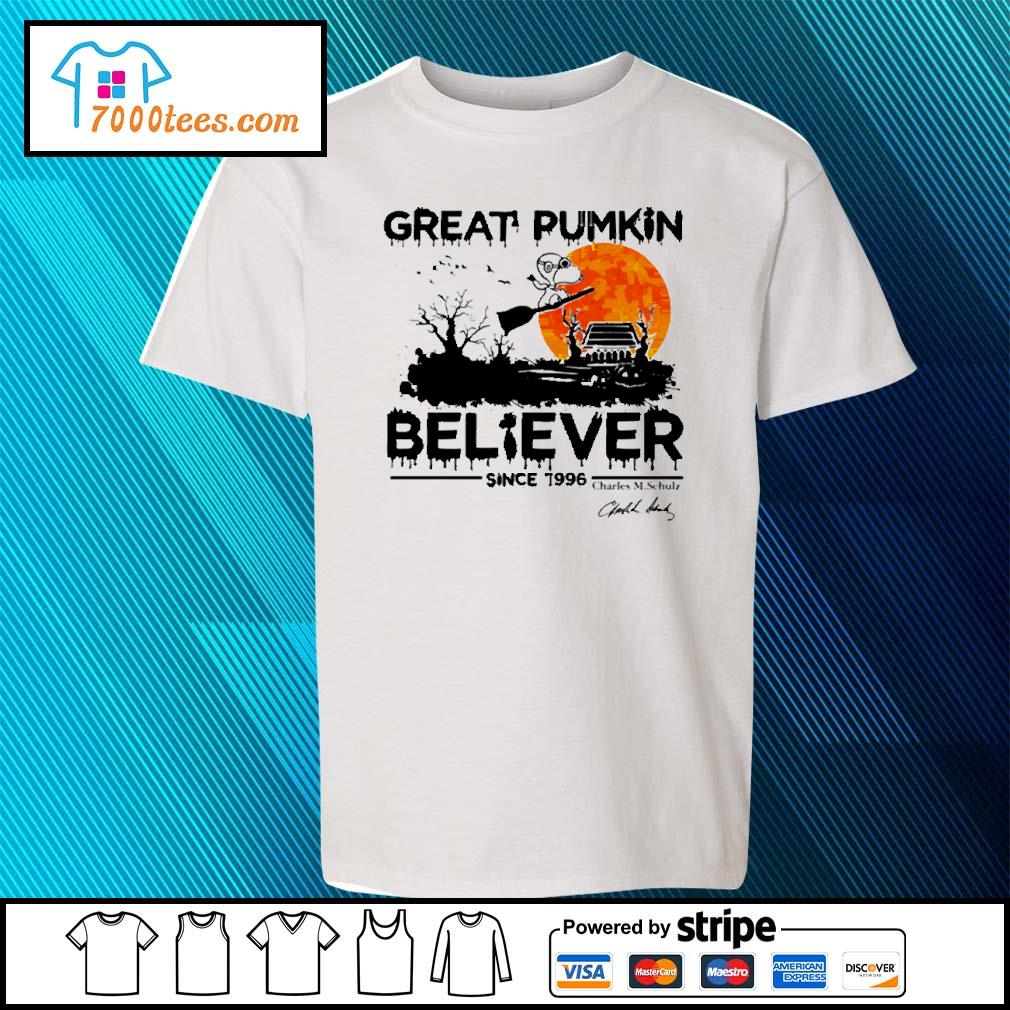 Halloween Snoopy great pumpkin believer since 1966 sunset s youth-tee