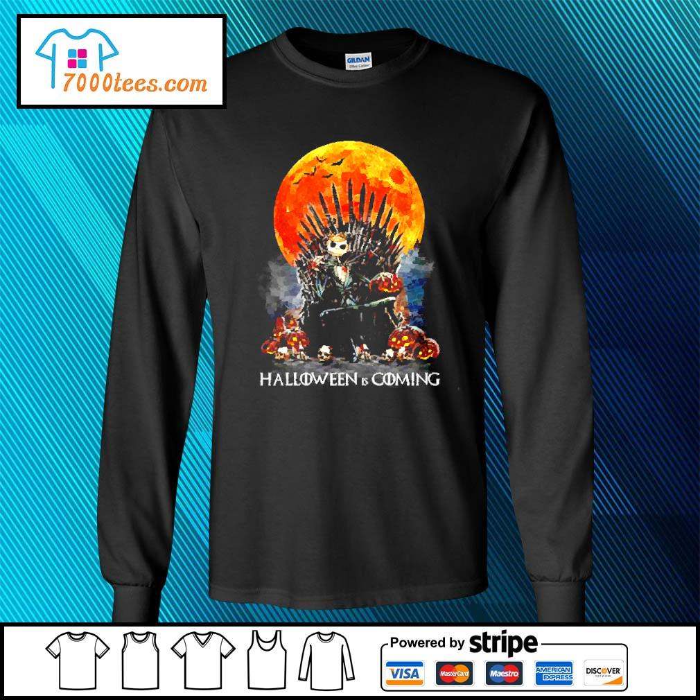 Michael Myers Halloween is coming s longsleeve-tee
