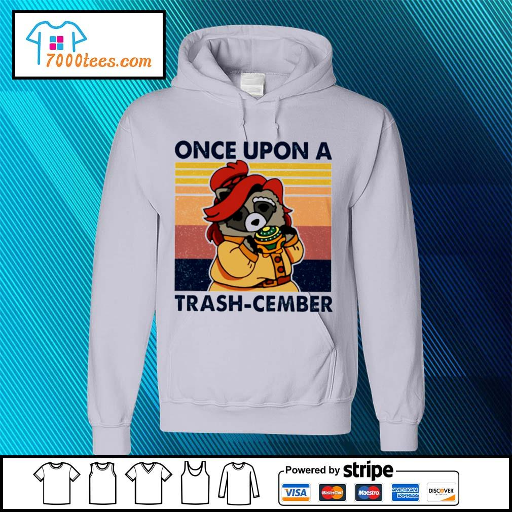 Retro Navy Once Upon A Trash Cember Raccoon Classic T-Shirt hoodie