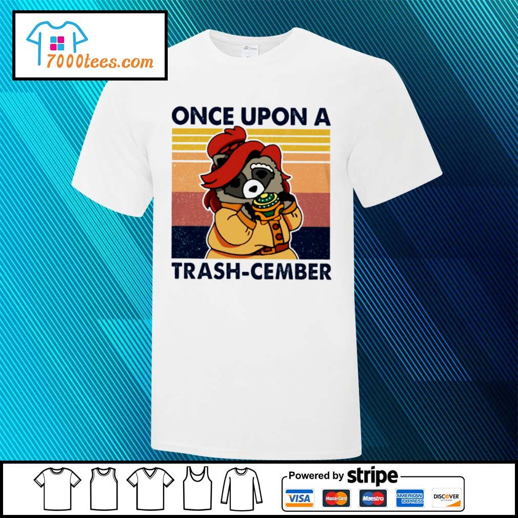 Retro Navy Once Upon A Trash Cember Raccoon Classic T-Shirt