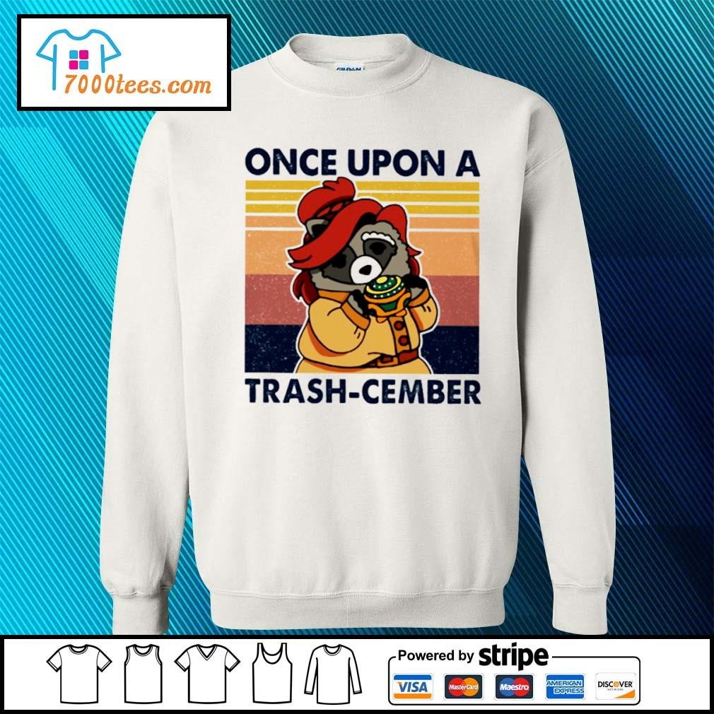 Retro Navy Once Upon A Trash Cember Raccoon Classic T-Shirt sweater