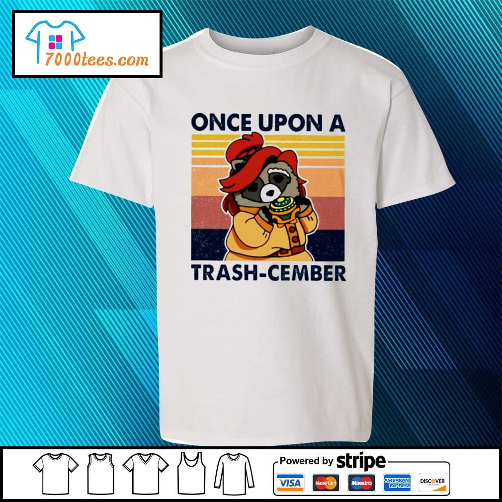 Retro Navy Once Upon A Trash Cember Raccoon Classic T-Shirt youth-tee
