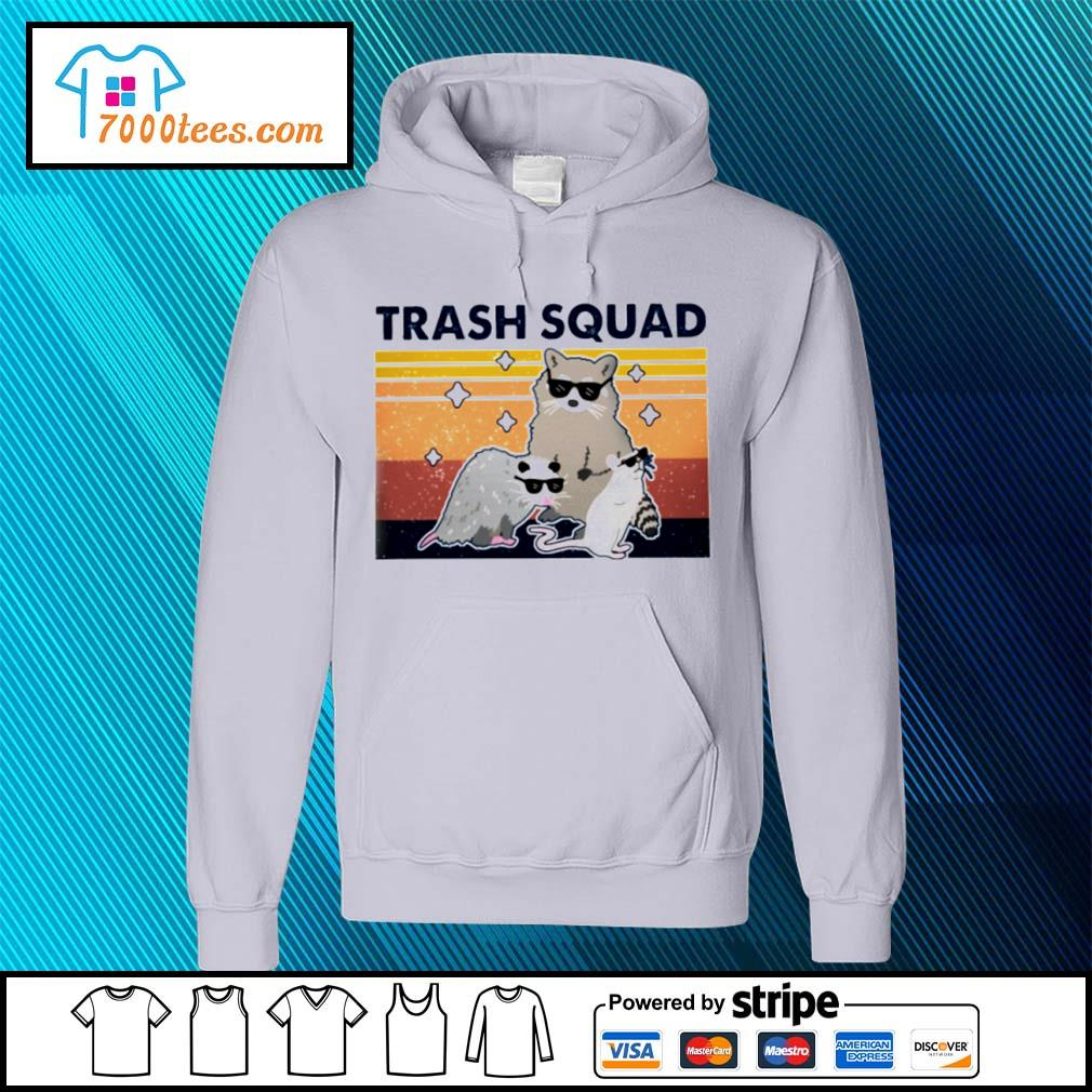 Retro Navy Trash Squad Raccoon Shirt hoodie