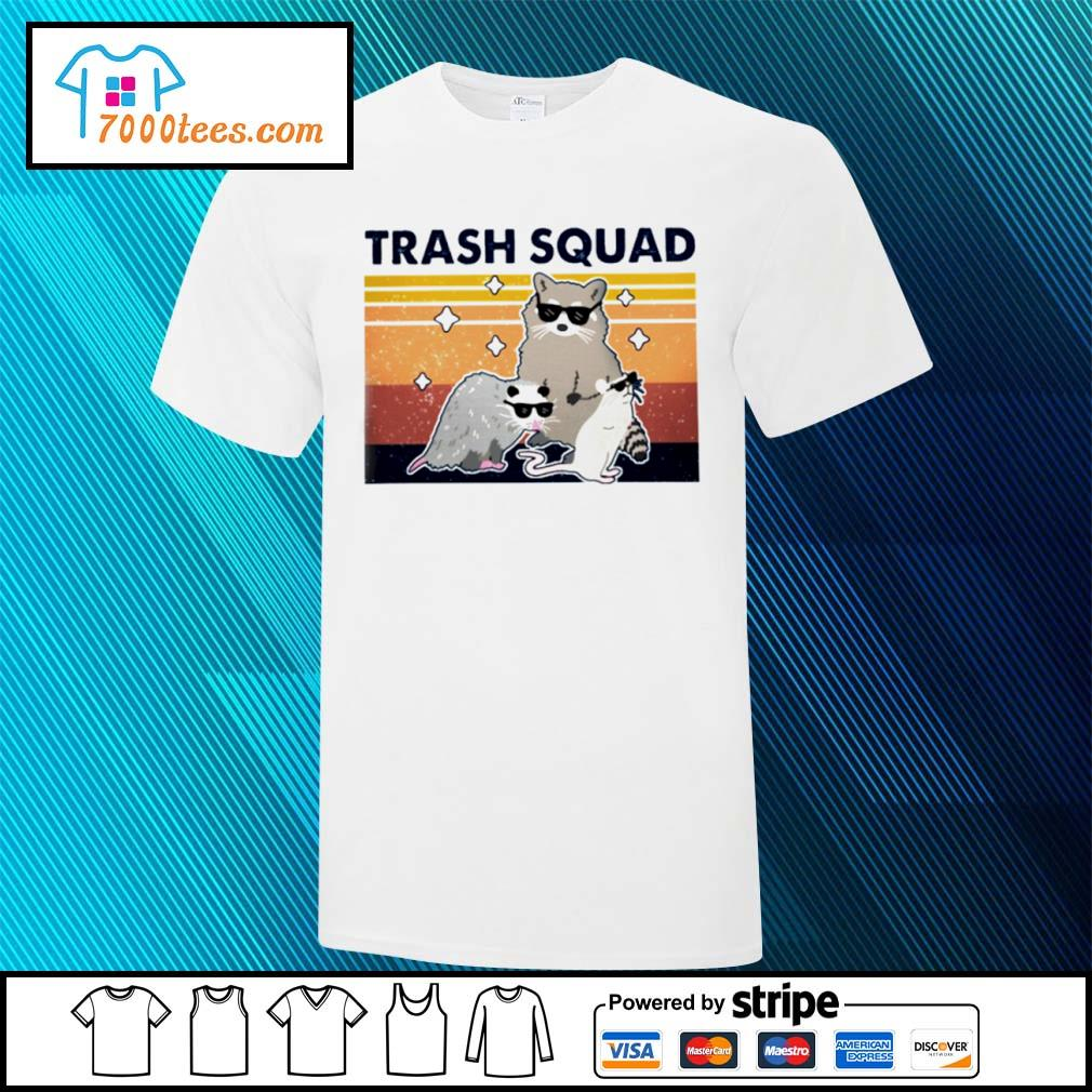 Retro Navy Trash Squad Raccoon Shirt