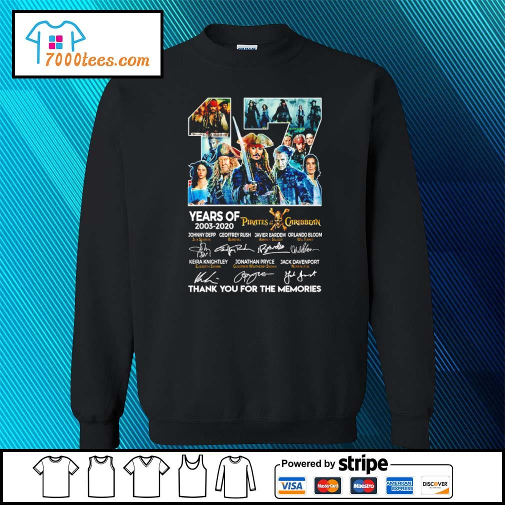 17 years of 2003 2020 Pirates of the Caribbean thank you for the memories s sweater