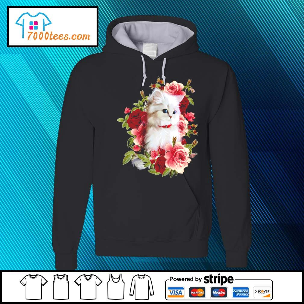 Cat and roses s hoodie