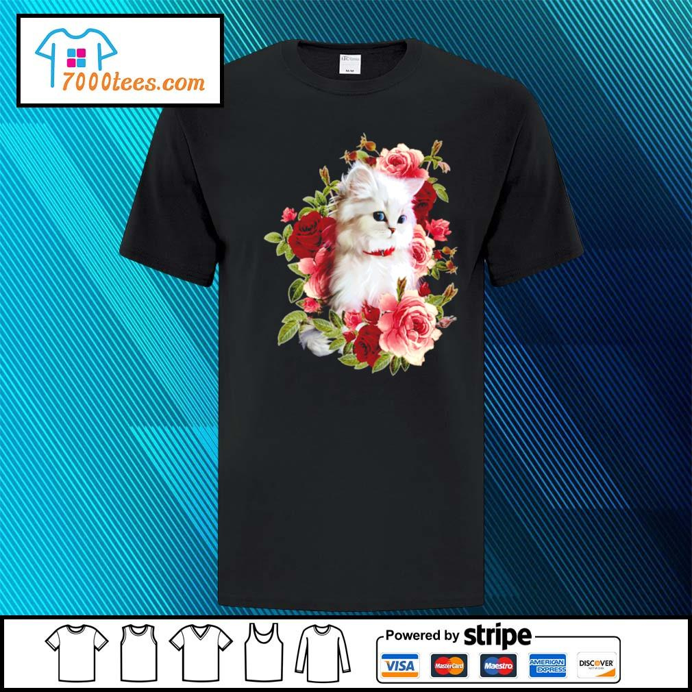 Cat and roses shirt