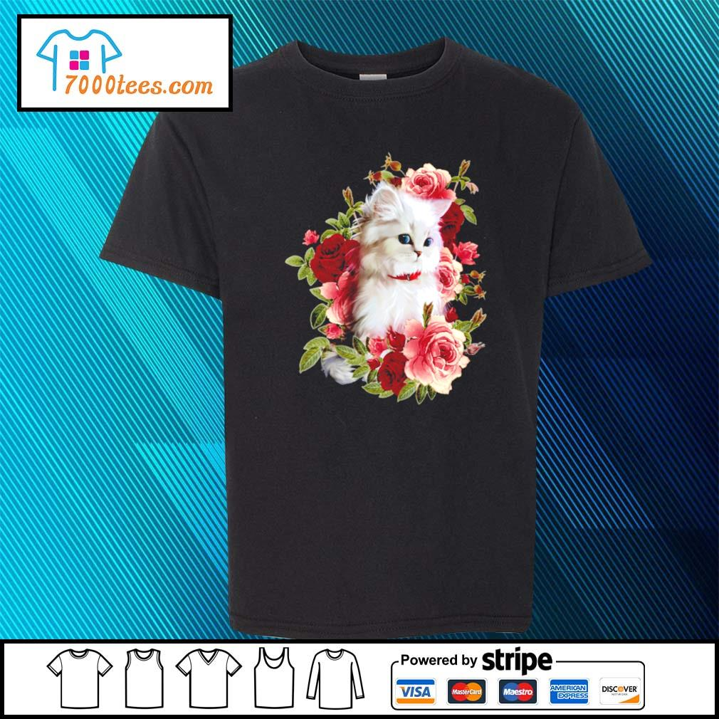 Cat and roses s youth-tee