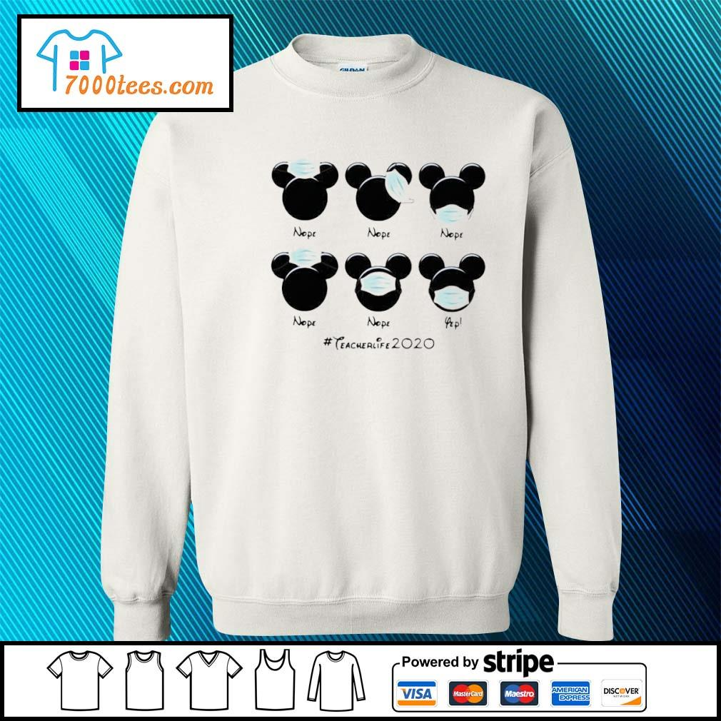 Mickey Mouse Face Mask #teacherlife2020 Shirt sweater