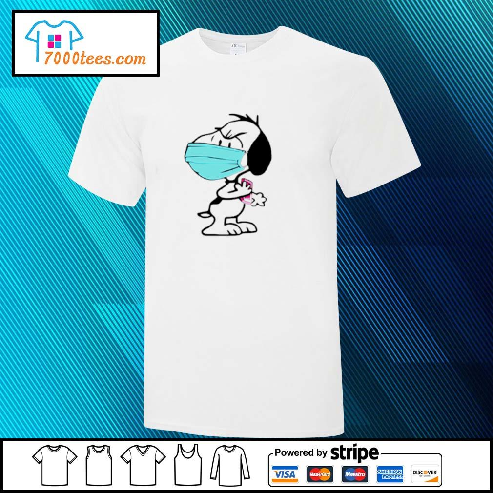 Snoppy face mask angry shirt