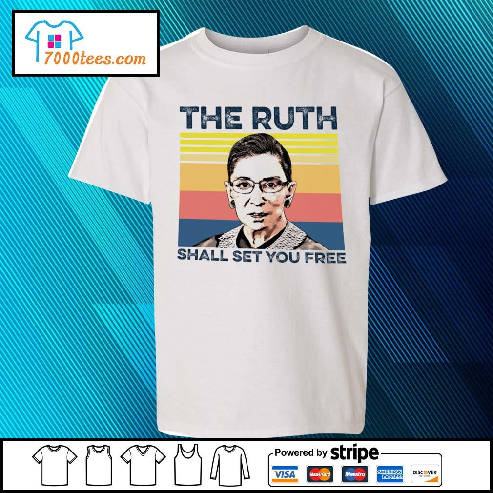 Vintage RBG The Ruth shall set you free s youth-tee